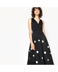 La Redoute - Sleeveless Maxi Dress With V-neck Front And Back - Lyst