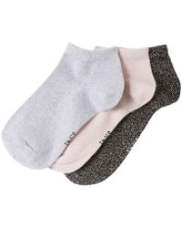 La Redoute - Pack Of 3 Pairs Of Glittery Trainer Socks - Lyst