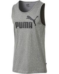 PUMA - Camiseta sin mangas con logo delante - Lyst