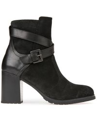 Geox - New Lise Buckle Detail Ankle Boots - Lyst