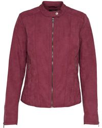 ONLY - Aged Faux Leather Jacket - Lyst