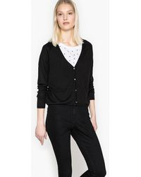 La Redoute - Cropped V-neck Cardigan - Lyst