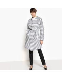 LA REDOUTE   Loose Fit Kimono-style Belted Long Jacket   Lyst