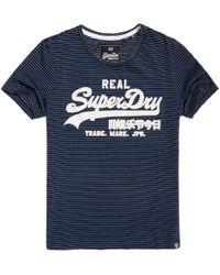 Superdry - Camiseta estampada con cuello redondo Vintage Logo Spectrum - Lyst