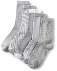 La Redoute - Pack Of 5 Pairs Of Fashion Crew Socks - Lyst