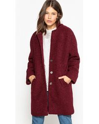 La Redoute - Knitted Wool Blend Coat - Lyst