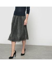 Ichi - Kamelo Lurex Skirt - Lyst