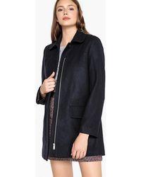 Best Mountain - Wool Blend Zip-up Coat - Lyst