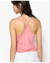 La Redoute - Vest Top With Crossover Shoestring Straps At Back - Lyst