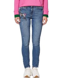 Esprit - Embroidered Slim Fit Jeans - Lyst