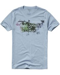 Pepe Jeans - Goodge Crew Neck T-shirt With Motif On Front - Lyst