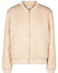 Numph | Quilted Zip-up Bomber Jacket | Lyst