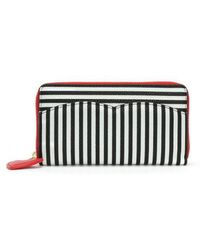 Lulu Guinness - Cupid Bow Multicoloured Grainy Leather Continental Walle - Lyst