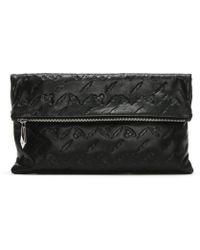 Vivienne Westwood - Canterbury Black Leather Orb Embossed Clutch Bag Col - Lyst