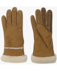 UGG - Womens Chestnut Sheepskin Seamed Tech Gloves - Lyst