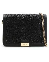 Michael Kors - Jade Black Leather Embellished Clutch Bag - Lyst