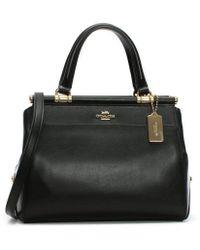 COACH - Grace Black Leather Satchel Bag - Lyst