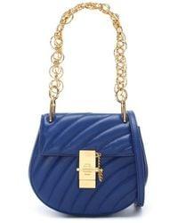Chloé - Chloe Drew Bijou Majesty Blue Leather Shoulder Bag - Lyst