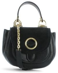 Michael Kors - Isadore Small Black Suede & Leather Messenger Bag - Lyst