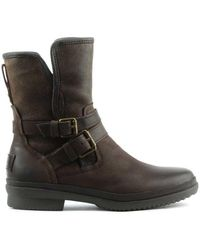 UGG - Ugg Australia Simmens Stout Leather Strap & Buckle Boot - Lyst