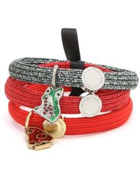 Marc Jacobs - Cluster Pony Red Mushroom Charm Hair Elastics - Lyst