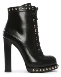 Alexander McQueen - Studded Ankle Boots - Lyst