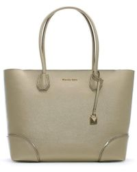 Michael Kors - Large Gallery Oat Leather Tote Bag - Lyst