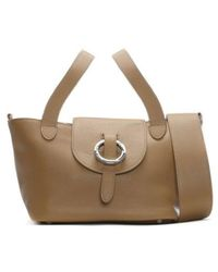 meli melo - Rose Thela Tan Leather Mini Shoulder Bag - Lyst
