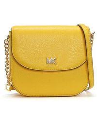 Michael Kors - Half Dome Sunflower Leather Cross-body Bag - Lyst