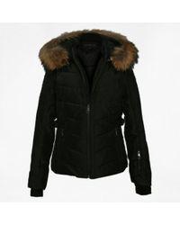 Oakwood - Competition Black Fur Trim Hooded Jacket - Lyst