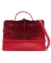 Sherene Melinda - Smith Medium Red Leather Tote Bag - Lyst