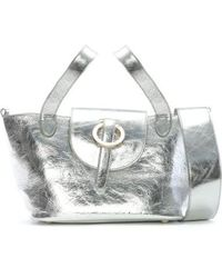 meli melo - Rose Thela Silver Leather Mini Shoulder Bag - Lyst