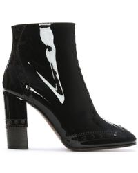 10894529f1ce Chloé - Chloe Perry 95 Black Patent Leather Ankle Boots - Lyst
