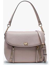 afddb448af6100 Michael Kors - Medium Evie Soft Pink Leather Shoulder Bag - Lyst