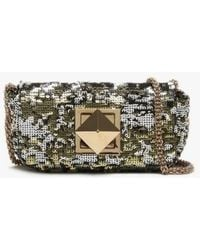 Sonia Rykiel - Small Le Copain Gold Sequin Cross-body Bag - Lyst