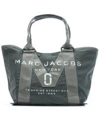 Marc Jacobs - Logo Printed Graphite Nylon Tote Bag - Lyst
