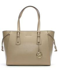 Michael Kors - Voyager Truffle Saffiano Leather Tote Bag - Lyst