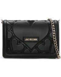Love Moschino - Phoebe Black Mini Heart Cross-body Bag - Lyst