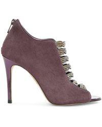 Gina - Cristina Purple Calf Hair Jewelled Shoe Boot - Lyst