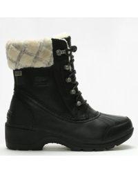 Sorel - Whistler Black & Natural Mid Boots - Lyst