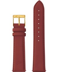 Larsson & Jennings - 20mm Red Leather Strap With Buckle - Lyst