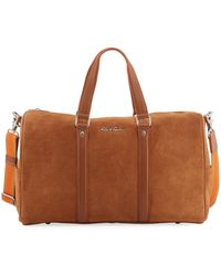 Robert Graham - Large Suede Travel Duffle Bag - Lyst