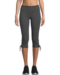 Marc New York - Cropped Lace-up Active Leggings - Lyst