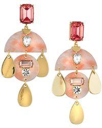 Fragments - Multi-drop Chandelier Earrings Pink - Lyst