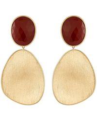 Marco Bicego - Lunaria 18k Red Jasper Drop Earrings - Lyst