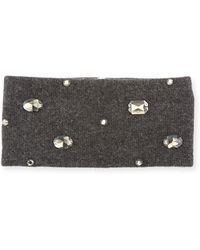 Neiman Marcus - Cashmere-blend Embellished Headband - Lyst