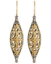 Konstantino - Hebe 18k Yellow Gold & Sterling Silver Drop Earrings - Lyst