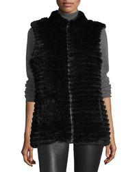 Gorski - Quilted Rabbit Fur Reversible Down Vest - Lyst