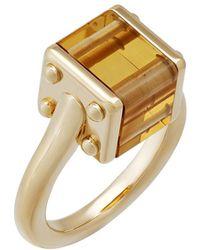 Louis Vuitton | Emprise 18k Citrine Cube Ring | Lyst