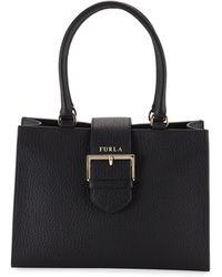 2b3ed2739c Lyst - Furla Ginevra Medium Leather Hobo Bag in Blue